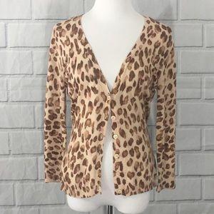 NEW YORK & CO. Leopard Cardigan, Sz. Medium